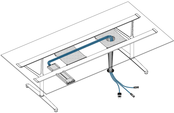 Filo Conference Options Bene Office Furniture - Under conference table cable management