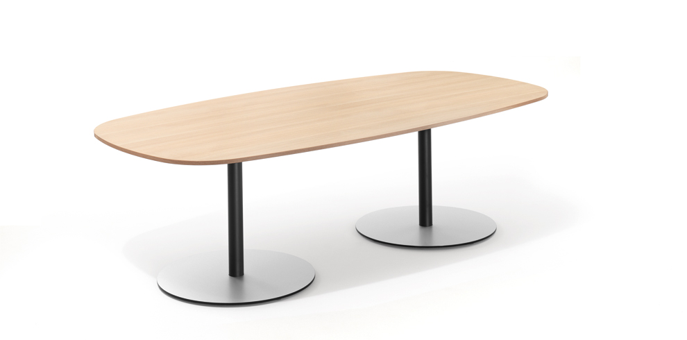 T-Meeting Table, boat-shaped