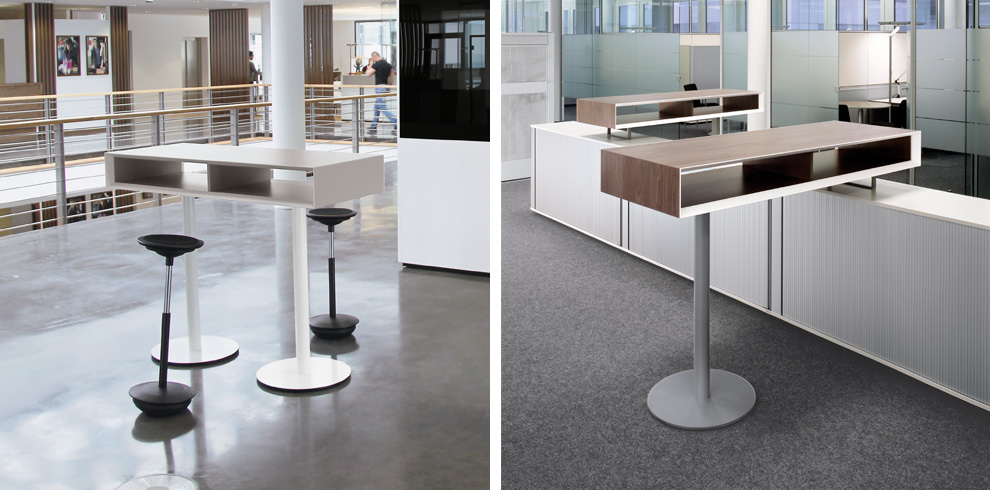 T-Meeting Stand Up Table - Bene Office Furniture