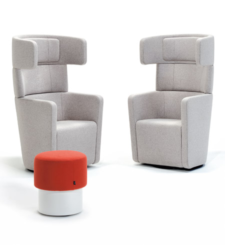 PARCS Wing Chair & Pop-Up Stools