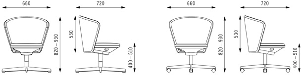 bay chair options & dimensions - bene office furniture