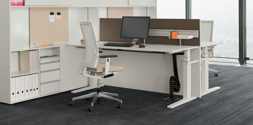 T-Lift Desk & CUBE_S Spine