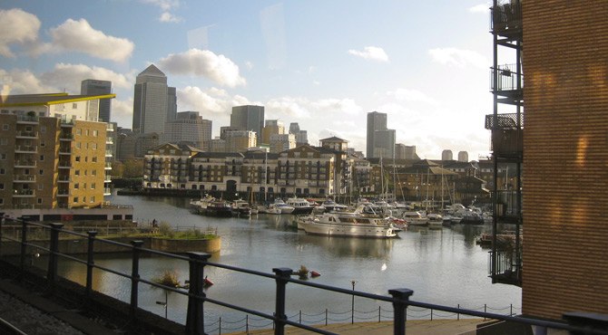London Docklands, Foto: arge|zeit|media