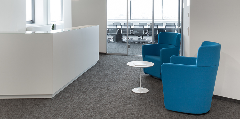 PARCS Wing Chairs in the reception area