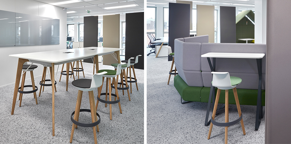 TIMBA Table high & TIMBA Stools