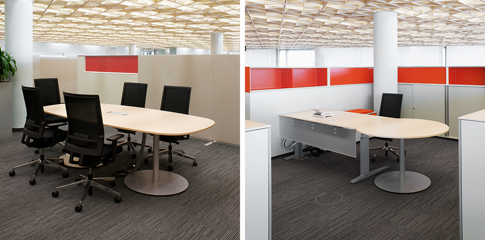 Versatile, B_Run swivel chair and T-Meeting as work place & meeting table