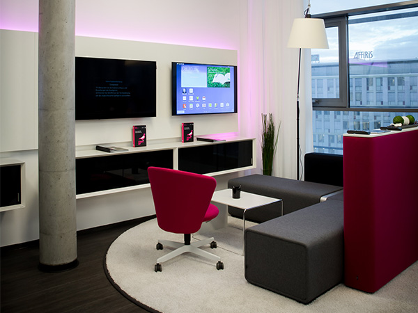 Bene gestalte T-Mobile Austria B2B Showroom